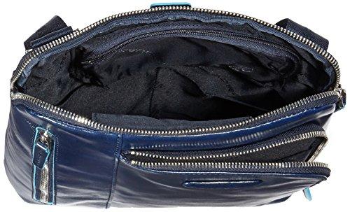 Piquadro CA1816B2 Borsello, Collezione Blu Square, Nero Blu