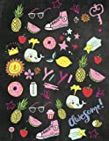 Girl Power Sketch Book: for Girls - Cute, Fun, Large Drawing, Doodling & Writing Pink Watercolor Sketchbook - Blank, Unruled Paper, 110 Numbered ... Scrapbook or Illustrated Story. Made in USA