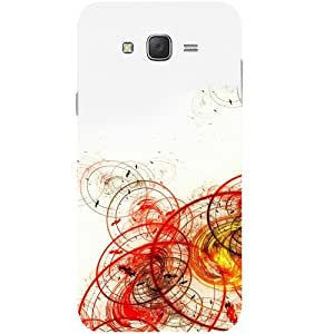 Casotec Circles Abstraction Design Hard Back Case Cover for Samsung Galaxy J2