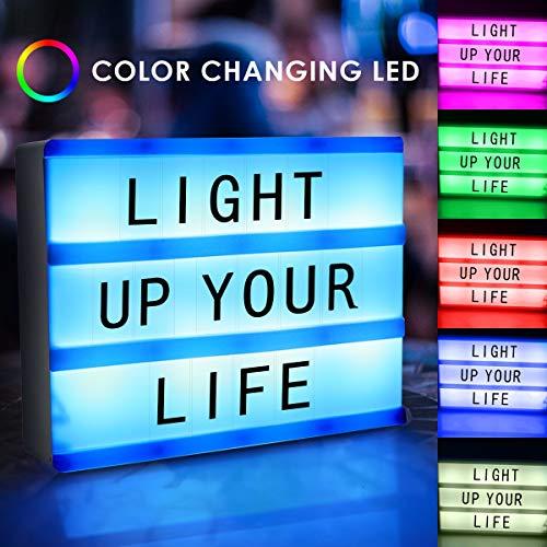 XingYue Direct A5 Magnetic Cinematic Light Box Fernbedienung DIY Brief Kombination Nachricht Display Leuchtkasten mit 90 Buchstaben Zahlen & Symbole -