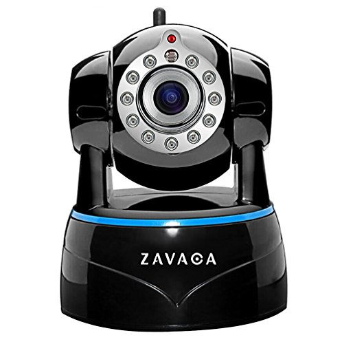 ZAVACA 1080P(1920x1080) Wireless WiFi IP Camera,Home Security Wireless Network Cam with Pan/Tilt/Zoom ,Two-Way Audio (Black) Tilt Network Cam