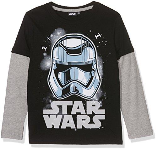 Star Wars-The Clone Wars Darth Vader Jedi Yoda Jungen Langarmshirt - schwarz - 140