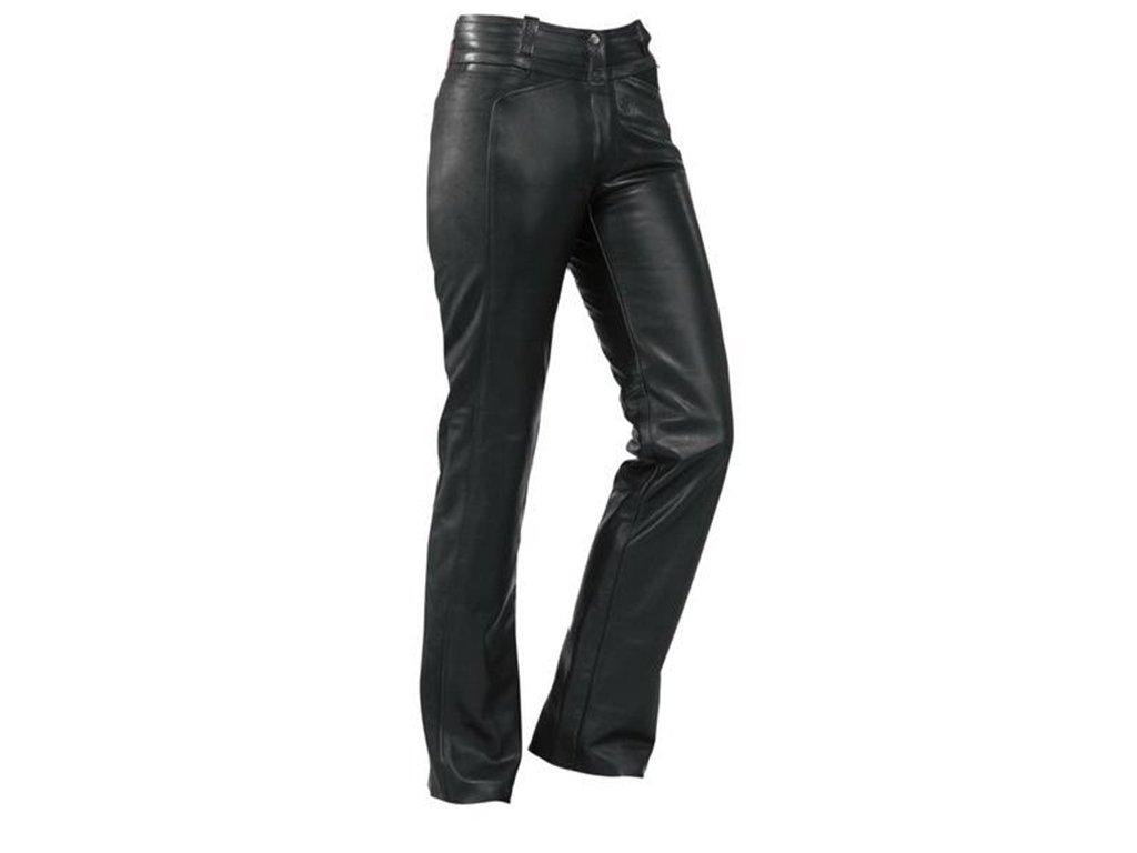Pantaloni da donna in pelle difi Shannon II Nero