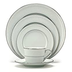 Noritake Whitecliff Platinum 5-Piece Place Setting