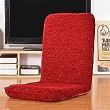 DIXDIAN Chenille Klappsofa Eine Person, Klappstuhl Fußboden Stühle, 6 Winkelverstellung, kann EIN Einzelbett Sein, red