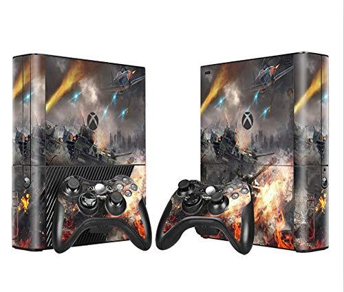 Skins Skin Skin für Xbox 360 E Konsole und Fernbedienungen, Vinyl-Aufkleber fire