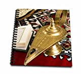 3dRose db_131462_3 Lamp of Aladdin, Arabic shoes, holy Islamic Quran-AF14 NTO0030-Nico Tondini-Mini Notepad, 4 by 4""