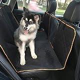 Roblue Hunde Autoschondecke mit Sicherheitsnetz Wasserdicht Auto Decke Seitenschutz,2 Taschen