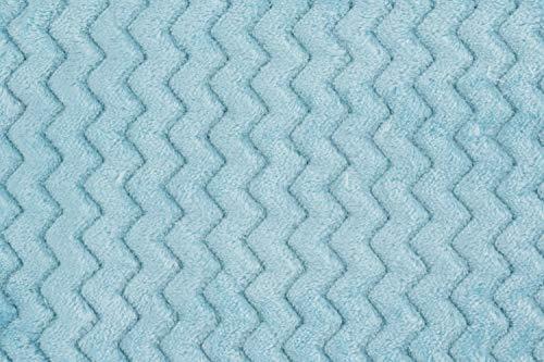 Fleece-Stoff Minky Wave 150cm Meterware Minze - Grau Stoff Minky