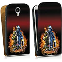 Samsung Galaxy S4 Tasche Hülle Flip Case Feuerwehrmann Feuerwehr Firefighter