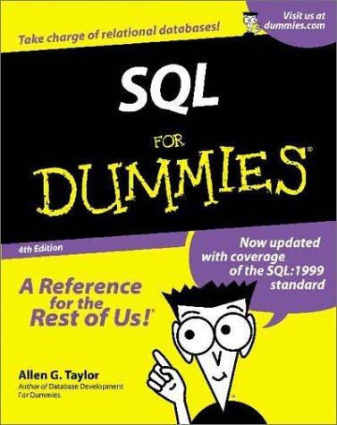 SQL For Dummies?? (For Dummies (Computers)) by Allen G. Taylor (2001-03-01) par Allen G. Taylor