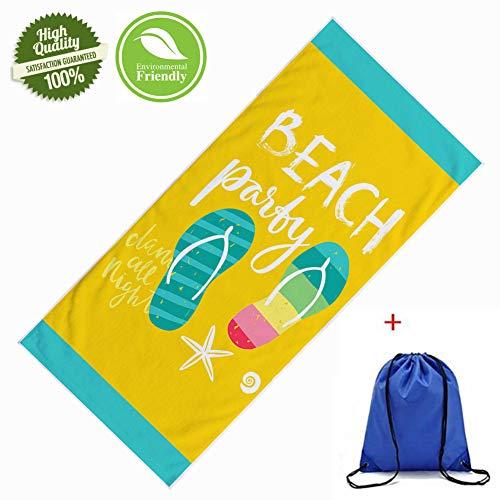 Asciugamano da Spiaggia in Microfibra, Morbuy Rettangolo Telo Mare Grande Assorbente Coperta Antisabbia Asciugatura Rapida Stampato Leggero per Il Yoga e Fitness (70x150cm,Ciabatte Infradito)