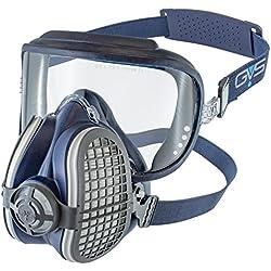 Elipse SPR406 Intégra Lunette de protection combinée avec masque et filtres poussière P3, Taille-Medium/Large, Bleu