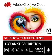 Adobe Creative Cloud All Apps | Student & Teacher | 1 Year Licence | PC/Mac | Download
