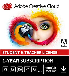Adobe Creative Cloud All Apps | Student & Teacher | 1 Year | PC/Mac | Download (B00E3J2TPI) | Amazon Products