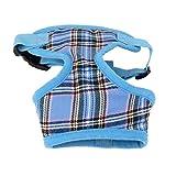 Sharplace Verstellbar Hundegeschirr Brustgeschirr Softgeschirr Mesh Welpengeschirr für Hunde Welpen, XS-XL Größen Wählbar - Blau, XS