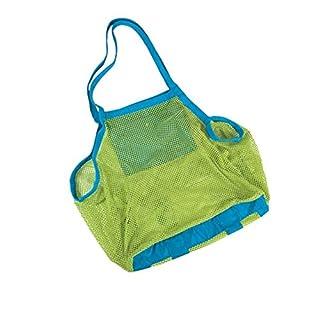Wowlife 18*18inch / 450*450mm Children Toys Sand Away Beach Treasures Bag Mesh Bag Tote (18*18inch)