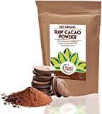 Raw organic cacao powder, pure nutritious vegan dark chocolate ingredient, premium quality superfood, sugar free, delicious and ideal for baking, power smoothies & protein bars - 200g
