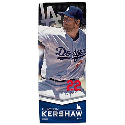 "Mission MLB Player Enduracool Microfiber Towel, Los Angeles Dodgers Clayton Kershaw, 12"" x 30"""