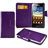 (Purple) Samsung I8700 Omnia 7 Super dünne Kunstleder Saugnapf Wallet Case Hülle mit Credit / Debit Card SlotsBy Spyrox