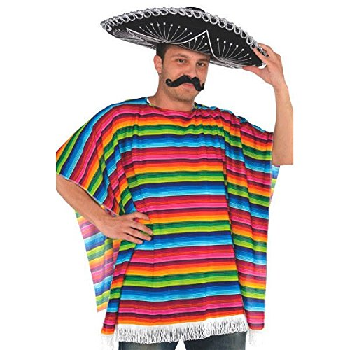 amscan Fiesta Mexikanischer Poncho, Mehrfarbig