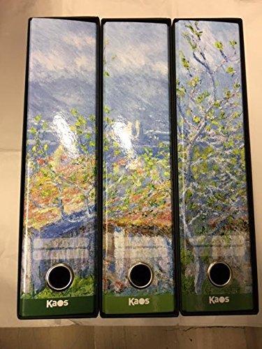 Juego 3archivadores Kaos Claude Monet