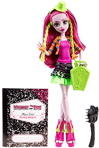 Monster High Mattel CDC38 - Schüler-Graustausch Marisol Coxi Puppe - Fashion High Monster Love I