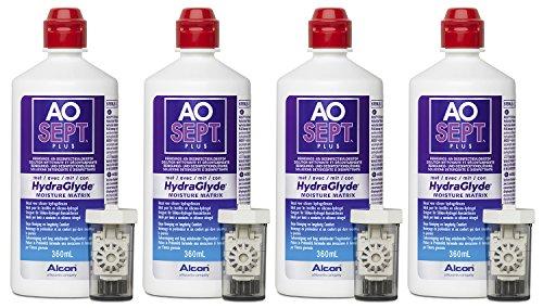 Aosept Plus mit Hydraglyde, Kontaklinsen-Pflegemittel Systempack, 4 x 360 ml - 3