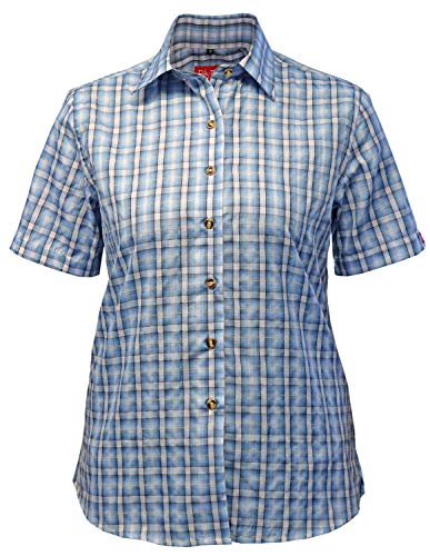 Fifty Five Damen Wander Bluse Lori hellblau 46 – Kurzarm Funktions Shirt Atmungsaktiv