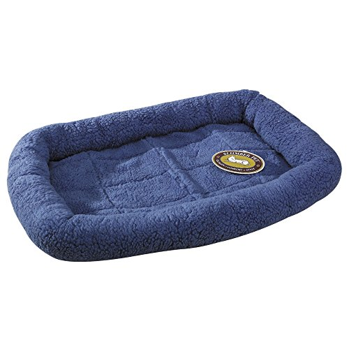 Artikelbild: Slumber Pet Sherpa Crate Beds - Comfortable Bumper-Style Beds for Dogs and Cats - X-Small, Slate Blue by Slumber Pet