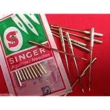 Auténtica Singer Agujas para máquina de coser tamaño 14(90/14) -16(100/16) -18(110/18), 90/14