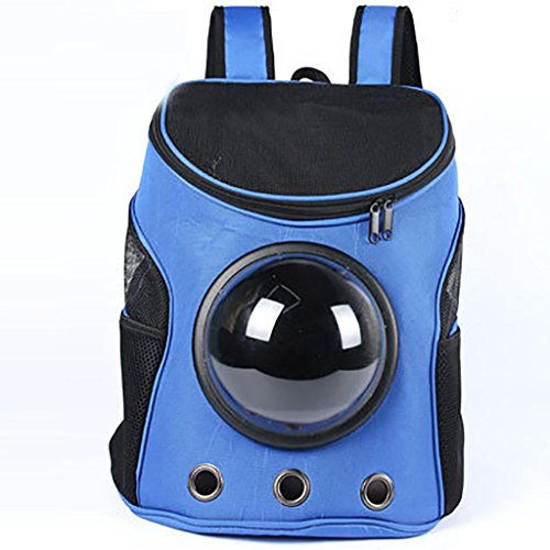 MYYXT Hunde-Rucksack, tragbar, Raumkapsel, Outdoor, Reise, Wandern, mit Guckfenster, aus Leder, für kleine Hunde und (Leder Anzug Katzen)