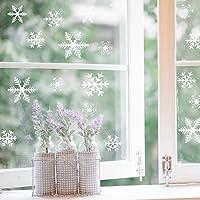 108 Fensterbilder Schneeflocken Design für Winter und Weihnachten Fensterdeko Set - Statisch Haftende PVC Aufkleber