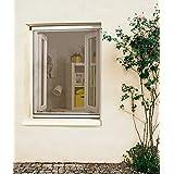 MADECO Moustiquaire Enrouleur PVC Recoupable pour Fenêtre L.125cm x H.Jusqu'à 150cm