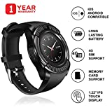 JSTBUY Original V8 Round Touchscreen Bluetooth Smartwatch Compatible with Android, iOS and All
