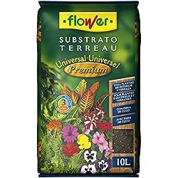Flower Universal Premium - Substrato, 10L, 29 x 6 x 46 cm, Color marrón