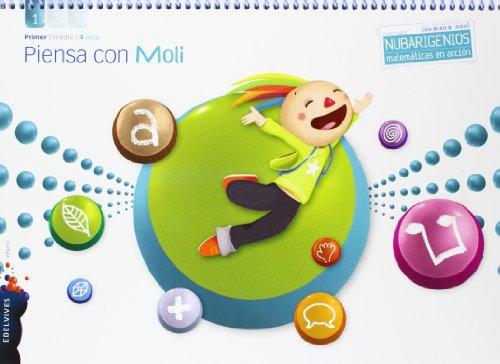 Piensa con Moli (Infantil 4 años Primer Trimestre) (Nubarigenios) - 9788426388261