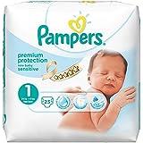 Pampers Windeln New Baby Sensitive Gr. 1 Newborn 2-5 kg Tragepack, 4er Pack (4 x 23 Stück)