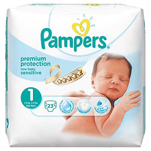 Pampers New Baby Sensitive Pants 51I2rTQq8wL
