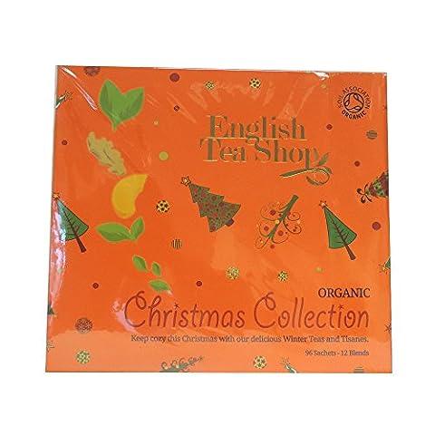 English Tea Shop X'mas Gift Tray Orange Christmas Tray with Ornaments (96 Sachet Tea Bags)
