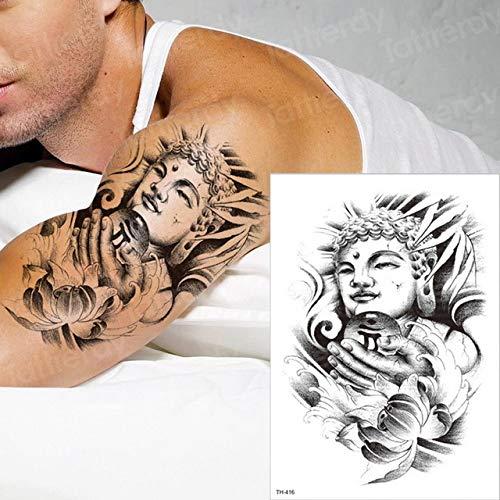 2 Stücke-Lion temporäre Tattoo Mann arm Tattoo hülse körper Tattoo Schwalbe Pfote Tattoo schwarz Tattoo männer schädel Tattoo Junge 2 Stücke- (Temporäre Tattoo-pfote)