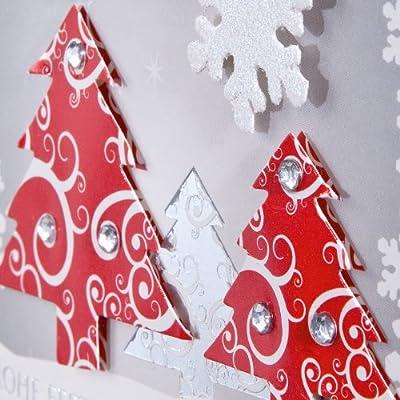 Sigel DS454 Handmade-Weihnachtskarten Set mit Umschlag, DIN A6, 10 Stück, mit Einlageblatt und 3D