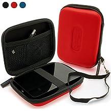igadgitz Rojo EVA Rígida Funda Carcasa para Western Digital My Passport Ultra, Ultra Metal, Air, Mac, X & WD Elements 500GB 1TB 2TB 3TB Externo Disco Duro Case Cover