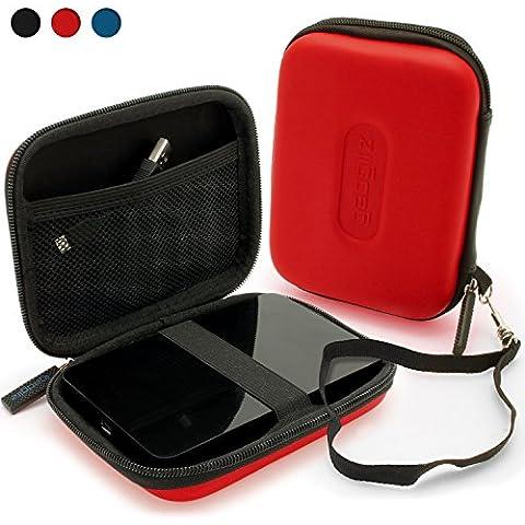 igadgitz Rojo EVA Rígida Funda Carcasa para Samsung M3 & P3 500GB, 1TB & 2TB USB 3.0 Slimline 2.5