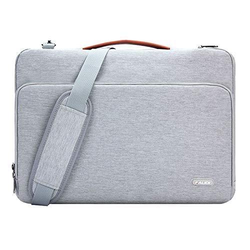 KALIDI 14 Zoll Laptoptasche Aktentaschen Handtasche Tragetasche Schulter Tasche Notebooktasche Laptop Sleeve Laptop hülle für bis zu 14.4 Zoll Laptop Dell Alienware/MacBook/Lenovo/HP (Grau#1)