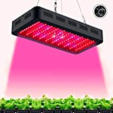 TOPLANET Dimmbare 300w LED Pflanzenlampe LED Grow Wachstumslampe Pflanzenleuchte Vollspektrum LED Serie mit UV IR Licht für Innen- Gewächshaus Grow Box Veg Keimung Blühen