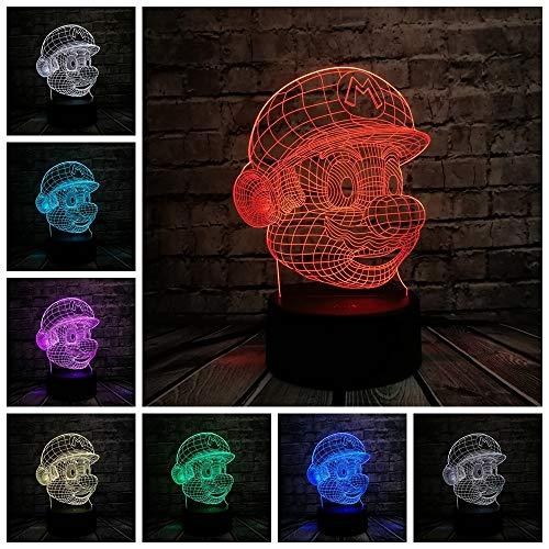 LED Nachtlicht Tischlampe USB Ladung Batterie Versorgung Weihnachtsgeschenk Rgb Touch Fernbedienung Toy Boy B ()