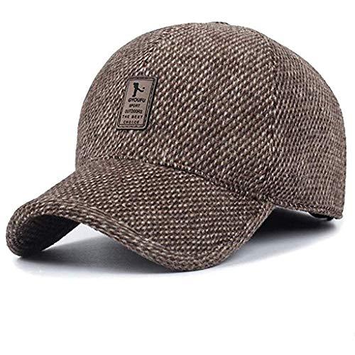 Aoogo Herren Winterschutz Baumwolle Herren Baseball Cap einstellbar für Draussen Sport oder auf Reisen