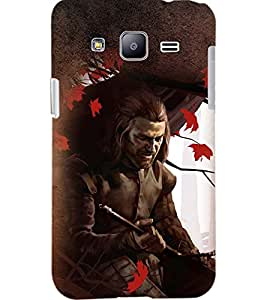 PrintDhaba SWORD MAN D-6237 Back Case Cover for SAMSUNG GALAXY J2 (Multi-Coloured)