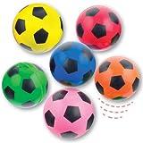 Fußball Flummis mit Supersprungkraft für Kinder als kleine Überraschung zum Fest (6 Stück)